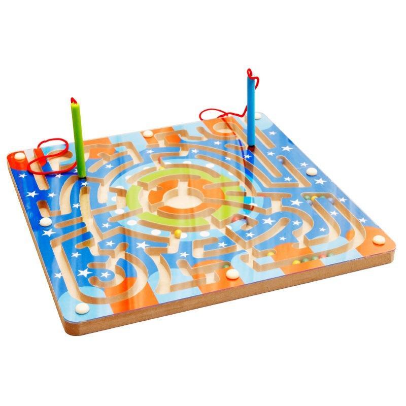 Magnética Rail pluma Roll-on Laberinto Educativo Nota Padres Fuerza juego de entrenamiento de los niños y niño 3-6 un año de edad del juguete de los niños