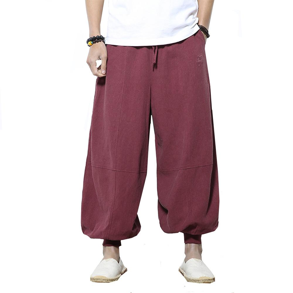 Mens Harem pants 2018 Summer Clothing Male Mid Waist Cross Pants Man Loose Casual Fitness Hip-Hop Joggers Lanterns trousers 5XL