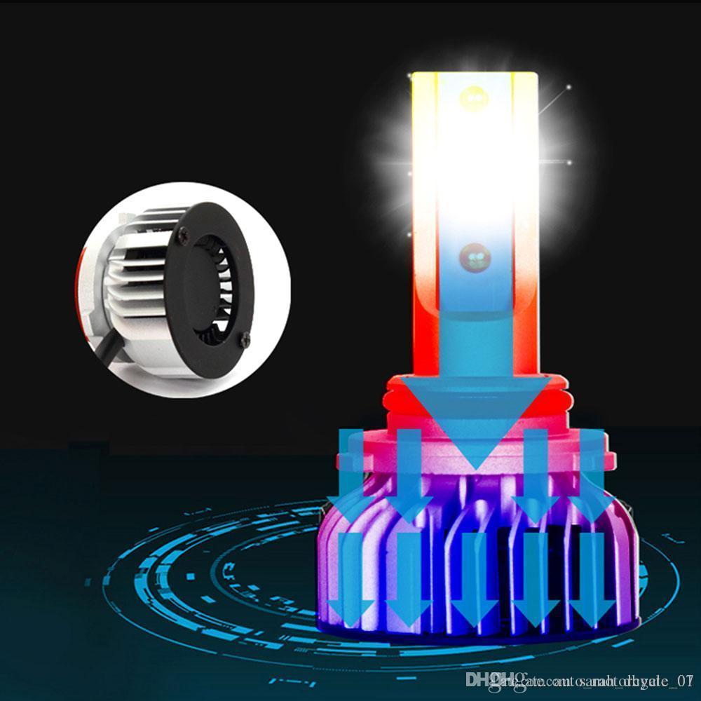 H4 6000K Car Styling LED luz de niebla de alta potencia Accesorios del coche LED del faro delantero de seguridad universal de la lámpara de luz de carretera