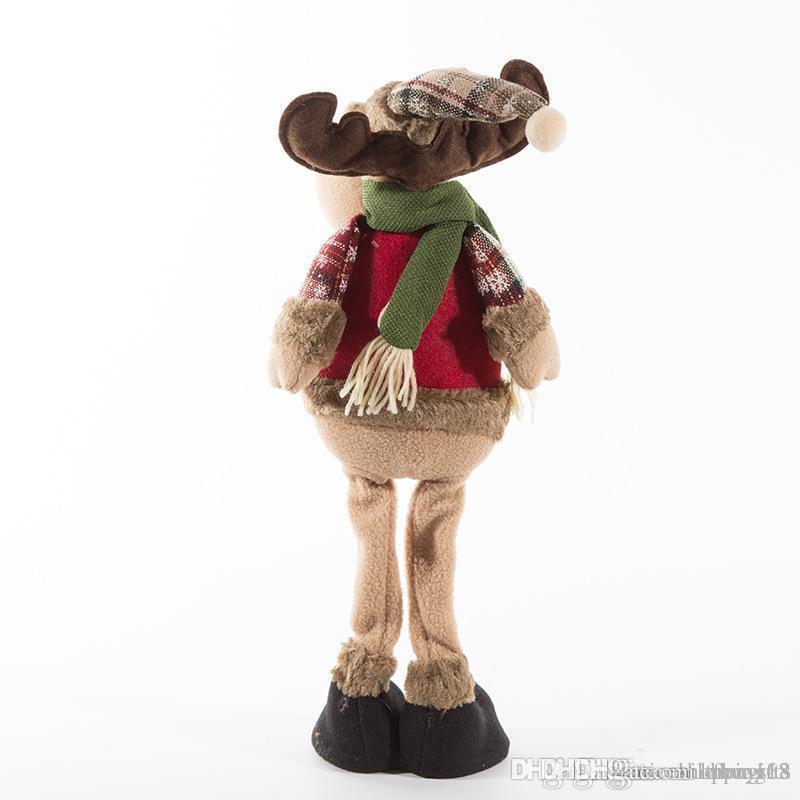 LXH nouvelle arrivée du Père Noël neige Man Elk Doll Décoration de Noël Arbre de Noël Ornements Decent décoration # 245