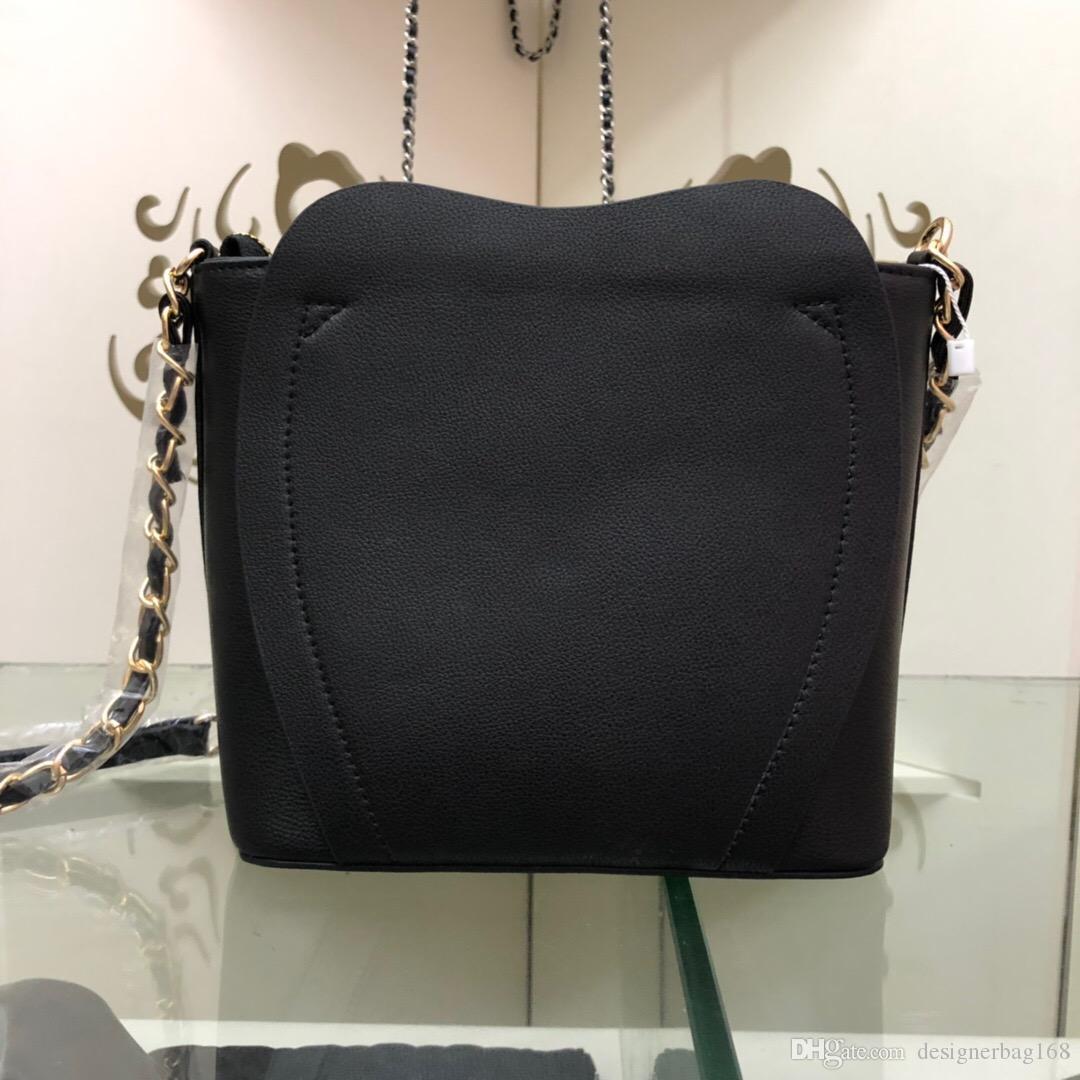 Nueva moda de lujo de la mujer del bolso del Cruz Bolsas hombro del cuero genuino bolso de mano de alta calidad de hardware de manera de cuero importado