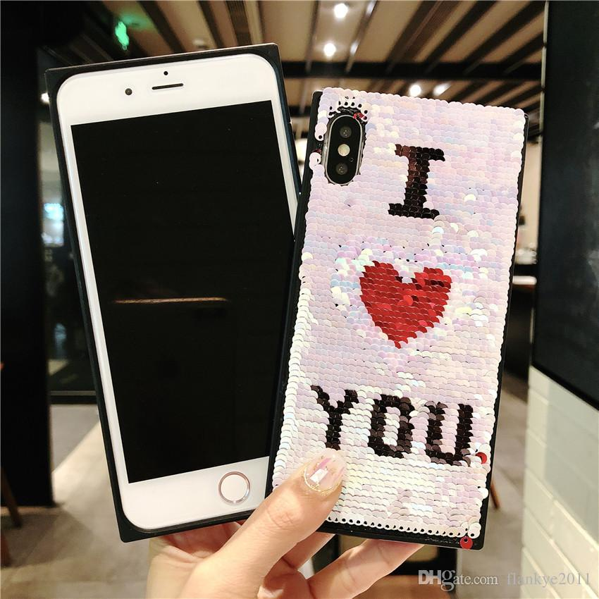 2019 hot sale Magic Phone cover color change Sequin phone cases for iPhone XS XR XS Max 7 8 Plus 1pc By HKPost Free Shipping