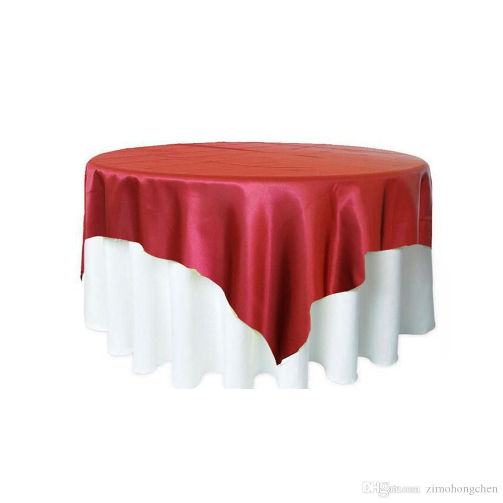 180x180cm Tessuto tovaglia in raso Tovaglia da tavola Copritavolo da tavola Copritavolo Ristorante Banchetto Hotel Decorazione festa nuziale