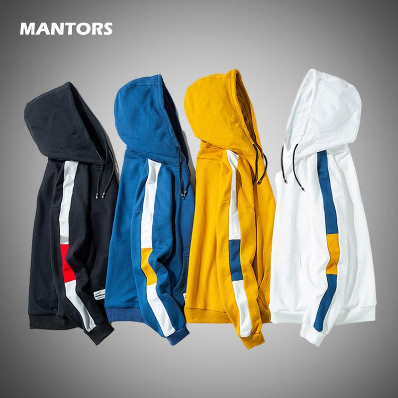 Erkekler Hoodies Sweatshirt 2020 İlkbahar Sonbahar Casual Hoodie Erkek Patchwork Kapüşonlular Hip Hop Streetwear Kapşonlu Kazak elbise T200614 mens