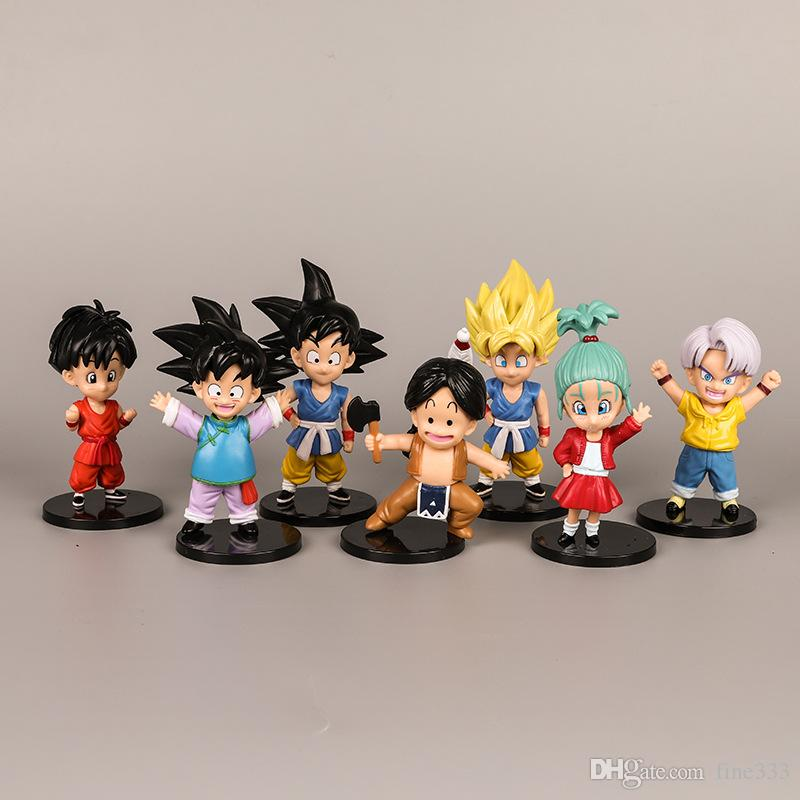 Dragon Ball Z Super Saiyan Son Goku Trunks PVC Action Figure Model Collection
