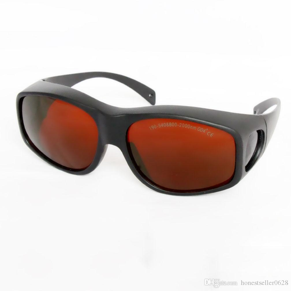 نظارات حماية واسعة الطيف ، نظارات واقية لليزر ، 190-540nm800-1700nm OD5 امتصاص مستمر لمشغل صالون تجميل