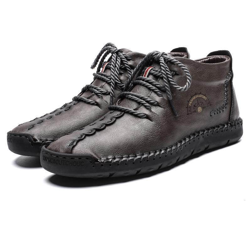 المطاط والأحذية والجلود وحيد الأزياء مريح حذاء بدون كعب-gommino