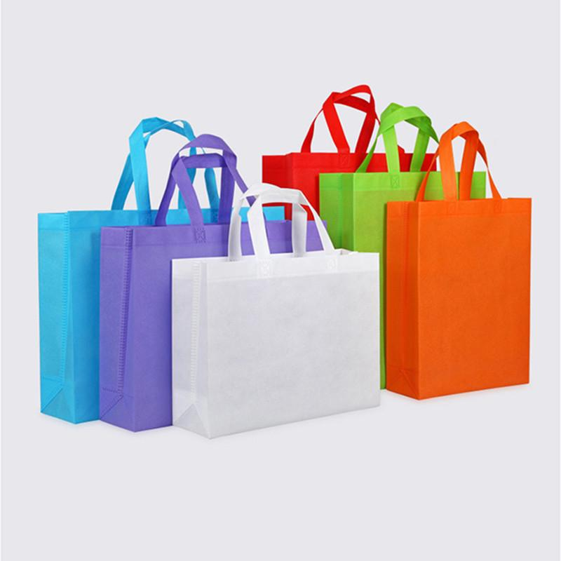 20 pcs foldable shopping bag non woven shopping bag for gift/advertisement/party non woven shopping bag accept custom print logo