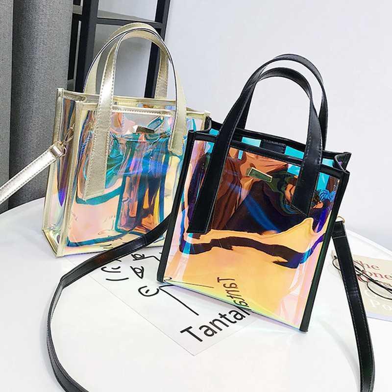 Capacidade Handbags Ladestote Bucket Jelly Senhoras para malas sacos composto Mulheres Ombro Clear Alta Alta Maior Moda Crossbody FWQDV