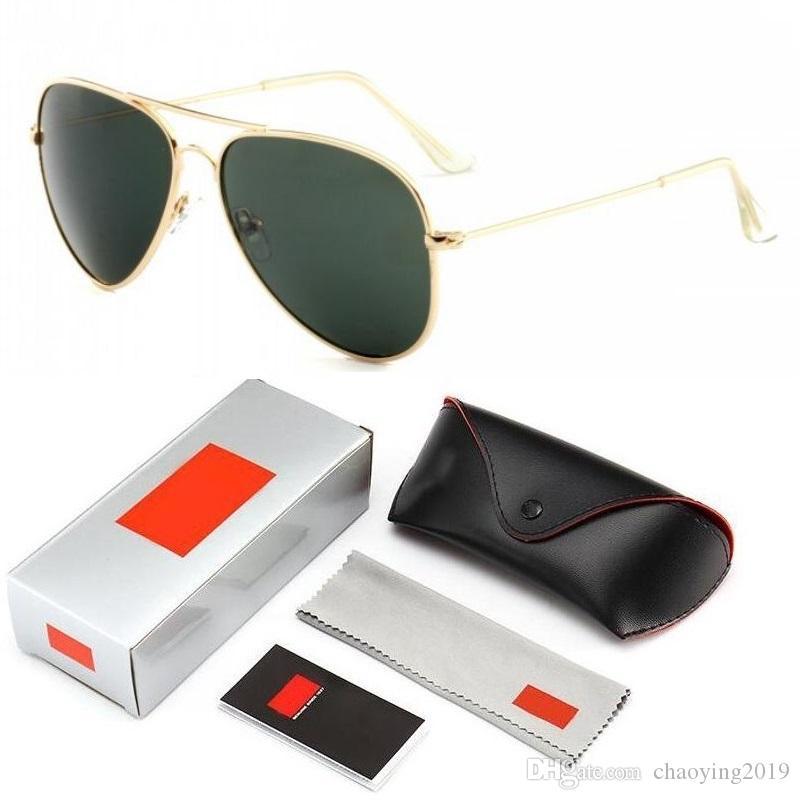 Designermarken Männer und die Frauen klassische Sonnenbrille Retro bunte neue Sonnenbrille Frosch-Spiegel-Sonnenbrille mit schwarzen Koffern und Box