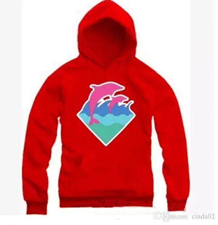 Новая Осень Зима мужская мода одежда Дельфин толстовки Свитер для мужчин хип-хоп спортивная одежда Бесплатная доставка M-4XL