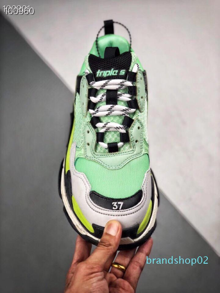 Di vendita calda di moda di Parigi 17FW Triple-S Sneaker Triple S Casual Shoes papà per gli uomini delle donne Beige Nero Ceahp Sport Designer Scarpa 36-46