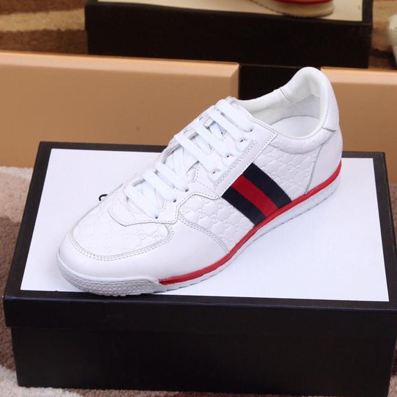Erkekler '; S Ace İmza Sneaker Erkek Ayakkabı En Kaliteli Açık Yürüyüş Moda Lüks Rahat Ayakkabı Dantel -Up Artı boyutu Casual Erkekler Sho