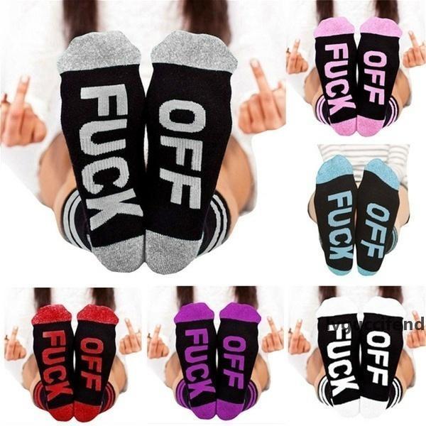 Hombres Mujeres Impreso algodón calcetín zapatillas Medio tubo calcetines letra de la manera del regalo de cumpleaños cómodo calcetines del tobillo