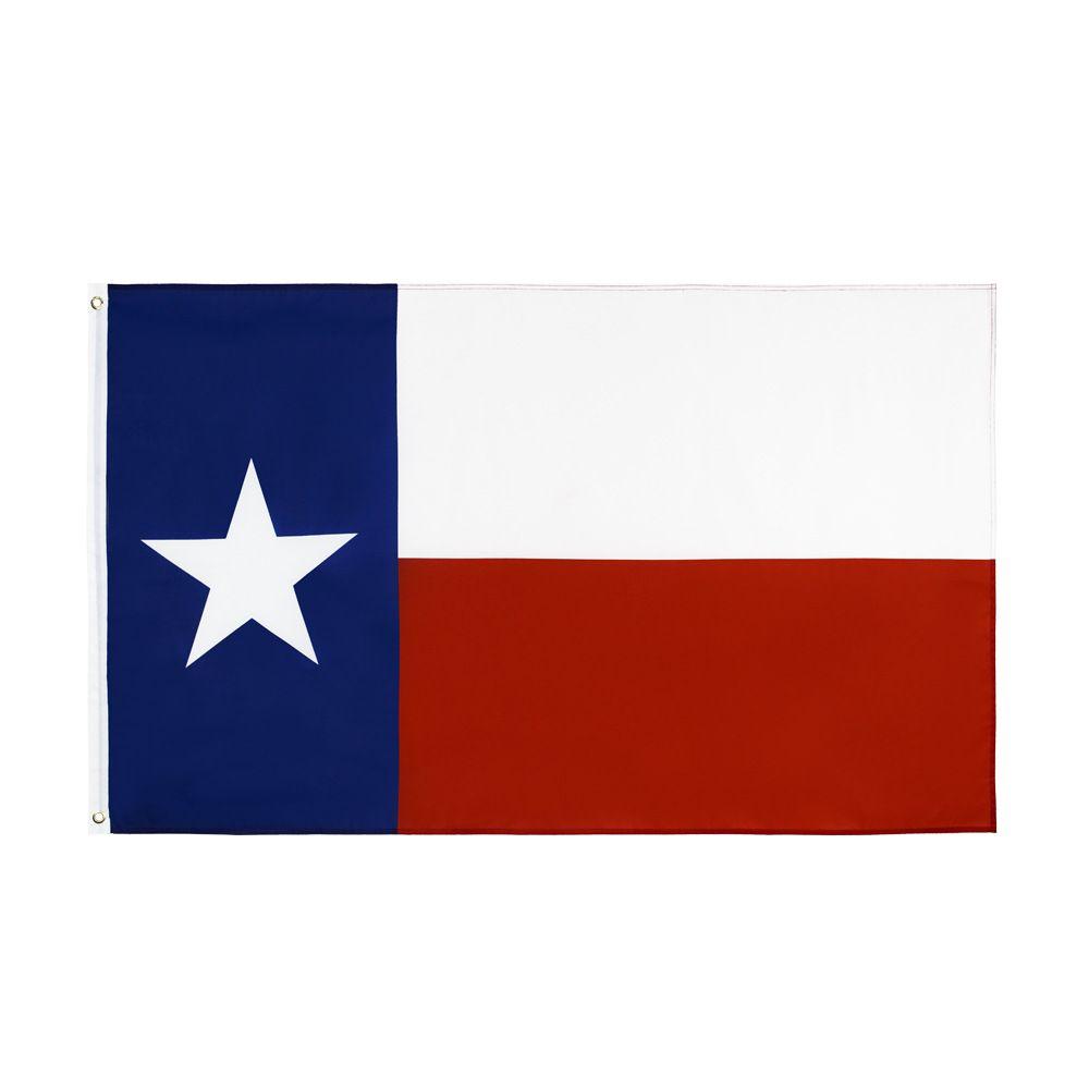 Trasporto libero nelle azione 3x5ft 90x150cm Hanging Lone Star bandiera degli Stati Uniti Stati Uniti d'America Bandiera del Texas e banner per decorazione di celebrazione