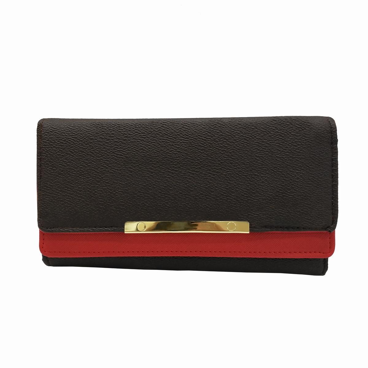 Heißer Verkauf Frauen Rote Bottoms Dame Lange Brieftasche Haspe Designer Münze Geldbörse Kartenhalter Klassische Tasche mit Original Box Staubbeutel 20 cm