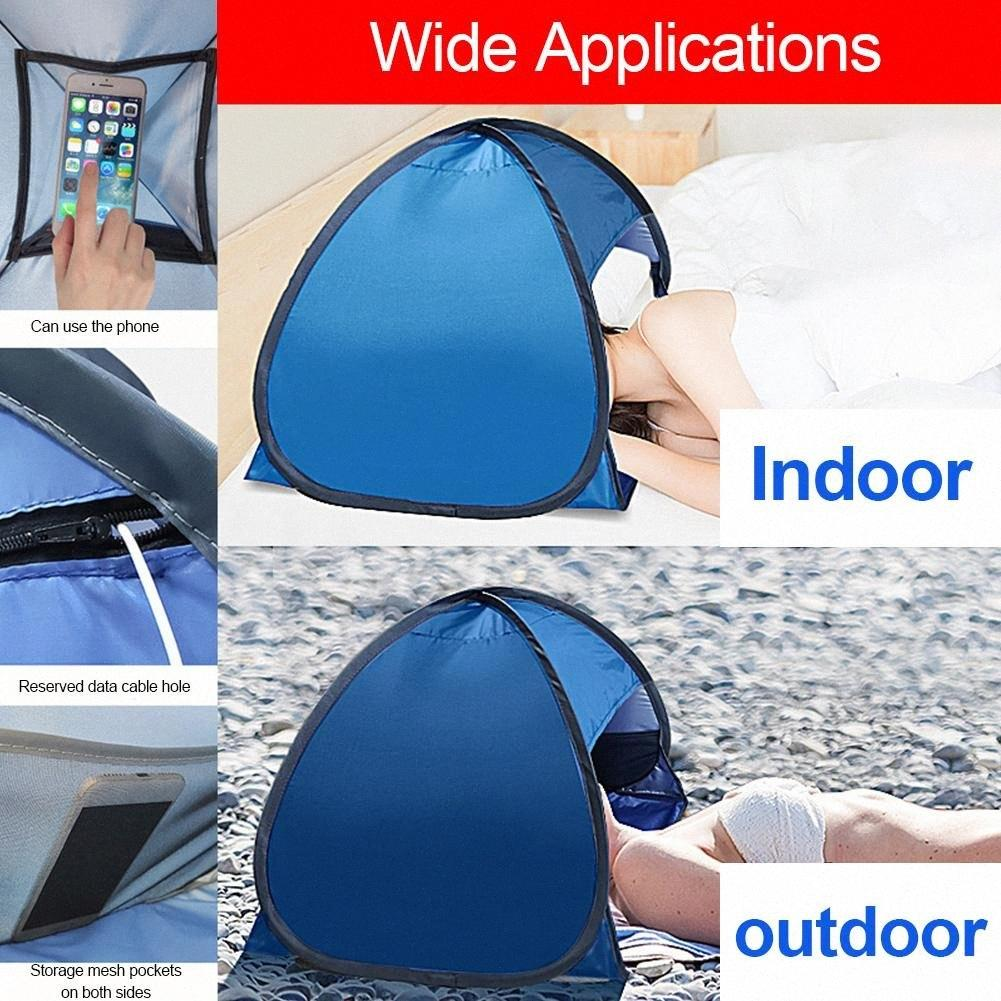 Beach Head Sunshade Tent Automatic Hiking And Camping & Hiking 2 Seconds Opened Portable Beach Windshield Multifunctional Mobile Phone sIRM#