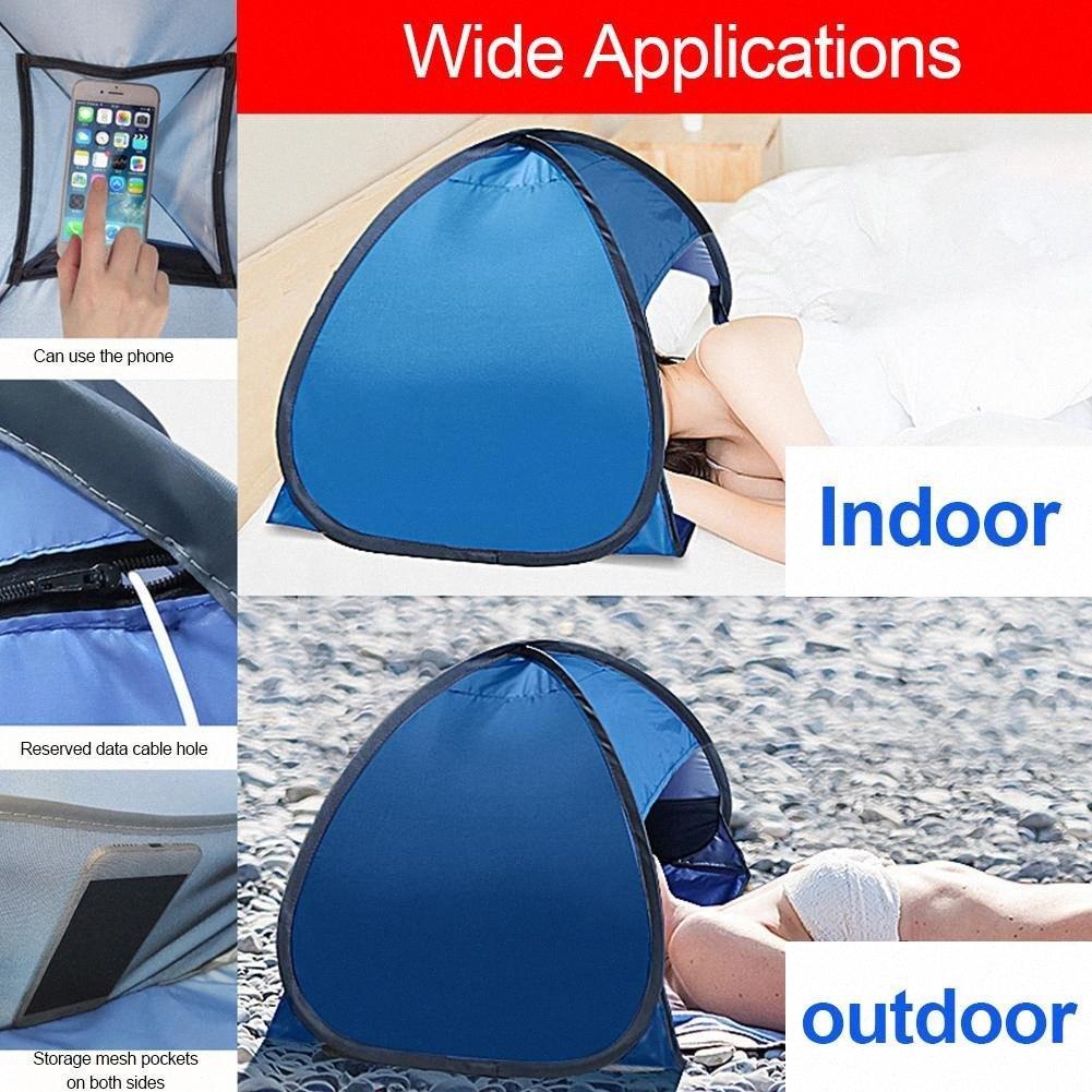 Beach Head Parasole tenda automatica Escursionismo e campeggio escursionismo 2 secondi Aperto portatile Beach parabrezza multifunzionale del telefono mobile SIRM #