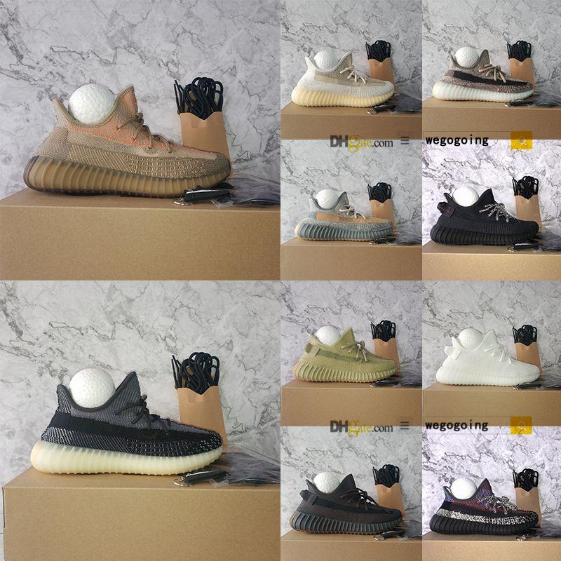 Adidas Yeezy Boost 350 V2 حجم 13 أحذية مع صندوق أليداع أسريئيل الكتان عاكس ABEZ الجمرة كاني ويست مارش اسرافيل أوريو الرياضة احذية Yecheil Zyon في الهواء الطلق تشغيل