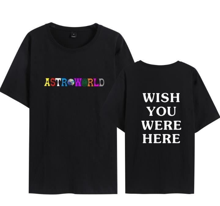 Astroworld Designer-Männer-T-Shirt Mann-Sommer-Hommes T-Shirts Design Harajuku Skateboard Tops Hoodies