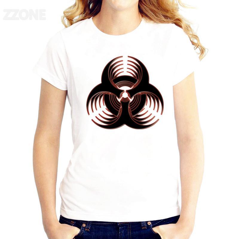 signo bioquímico mujeres de la camiseta impresa la buena calidad de la camiseta de manga corta de las camisetas o-cuello de la moda Tee Shirts
