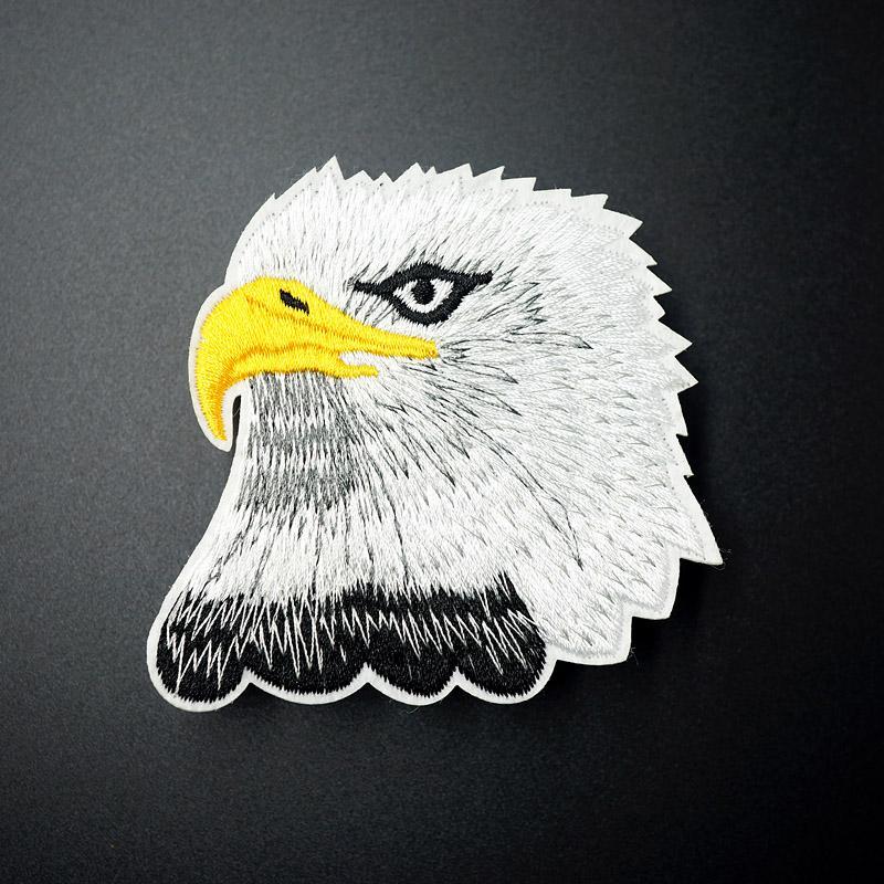 Tamaño de Eagle: Parche para 7.5x7.8cm Plancha para la ropa de bordado cose la divisa del Applique lindo de la tela de DIY accesorios de la ropa