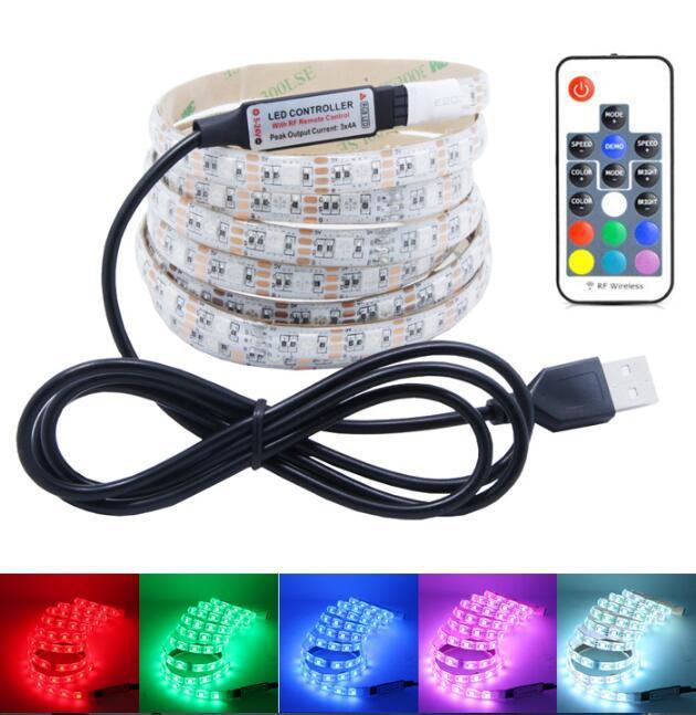 Fernbedienung 5050 LED-bunte Blitzlichtstreifen, Blitzlichtgürtel, dekorative Lichter, Hintergrundbeleuchtung, PVC weich mit 3M-Stick, wasserdicht