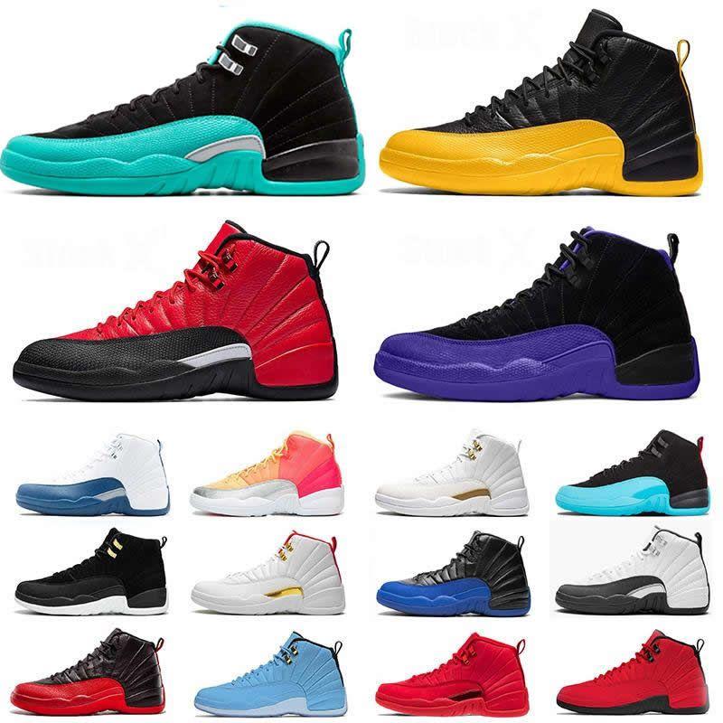 Erkek 12 Basketbol Ayakkabıları 12s XII jumpman 23 KOYU concor GRİP OYUN BULLS FIBA GYM UNC JADE Gama Üniversitesi Altın Eğitmenler Spor Spor ayakkabılar