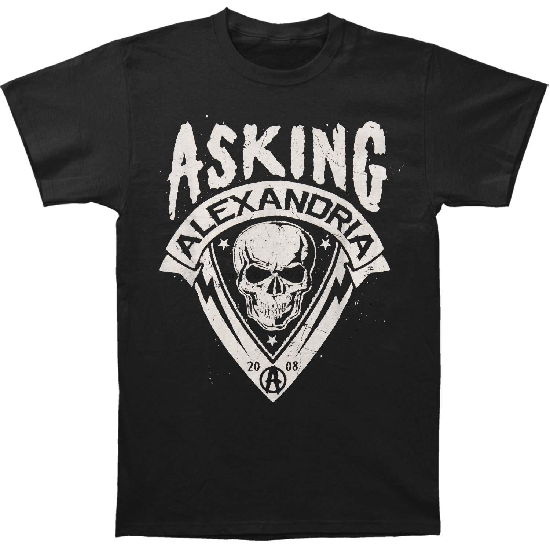 Asking Alexandria Uomo Skull Shield T-shirt nera