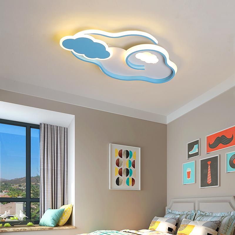 Облака Современные потолочное зажигает блеск привело Детская комната Детская Спальня Розовый / Синий цвет Минимализм водить потолочной лампы, домашнее освещение