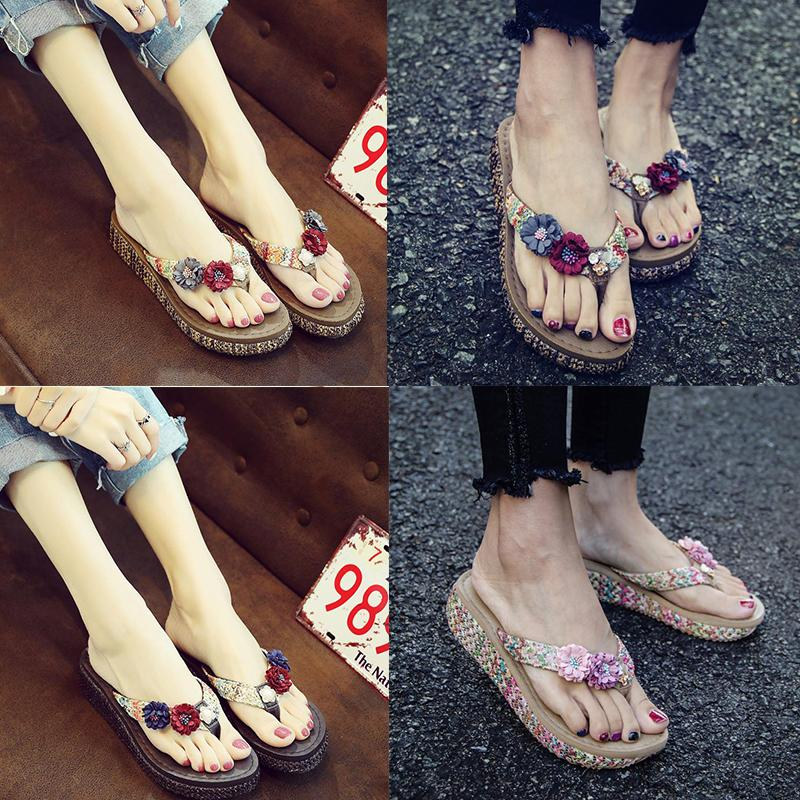 Beach Shoes with Thick Soles Flip-flops Holiday Slippers Women's Summer Fashion New Wear Luxury Designer Shoes