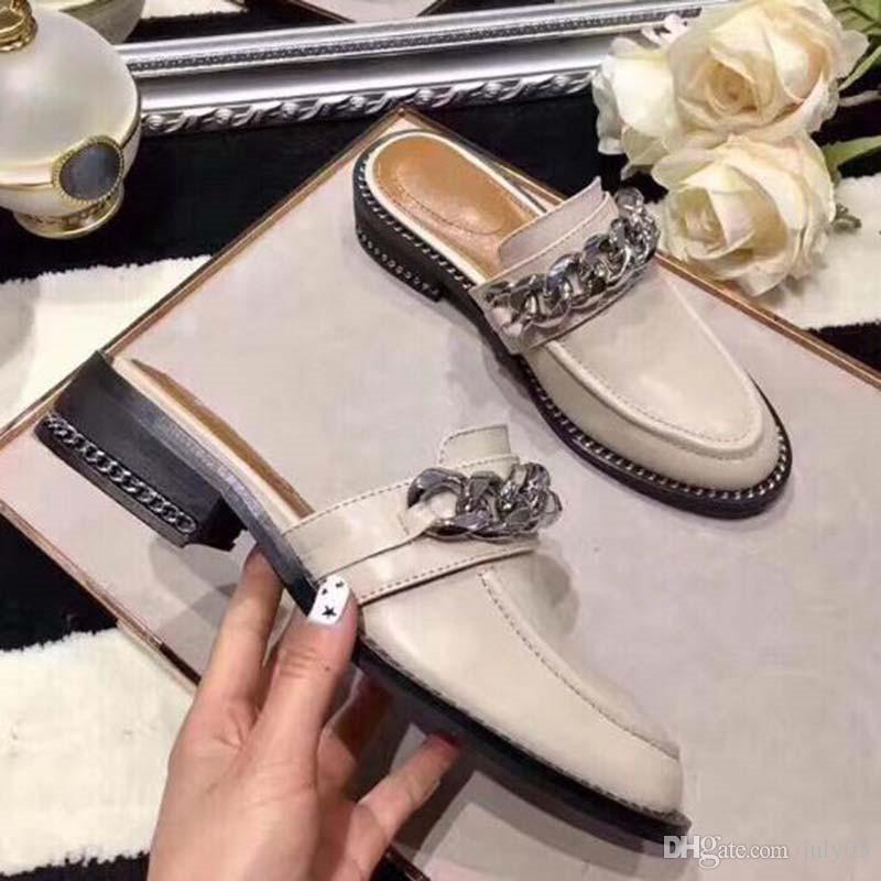 Las mujeres los zapatos casuales zapatillas mulas de pisos zapatillas de piel zapatillas de casa holgazanes planos zapatos al aire libre peludo des Chaussures O6