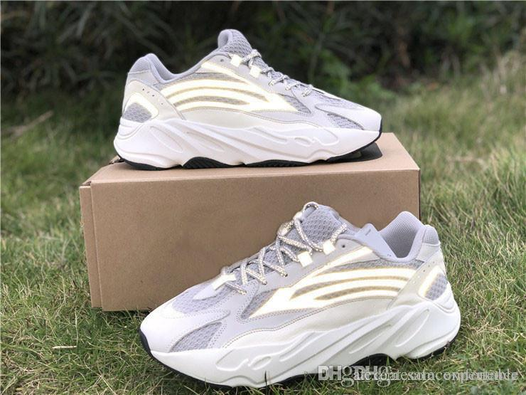 2019 neues authentisches Original 700 V2 Static 3M Reflective Vanta Wave Runner Fest Grau Kanye West Männer Frauen Laufschuhe Turnschuhe EF2829