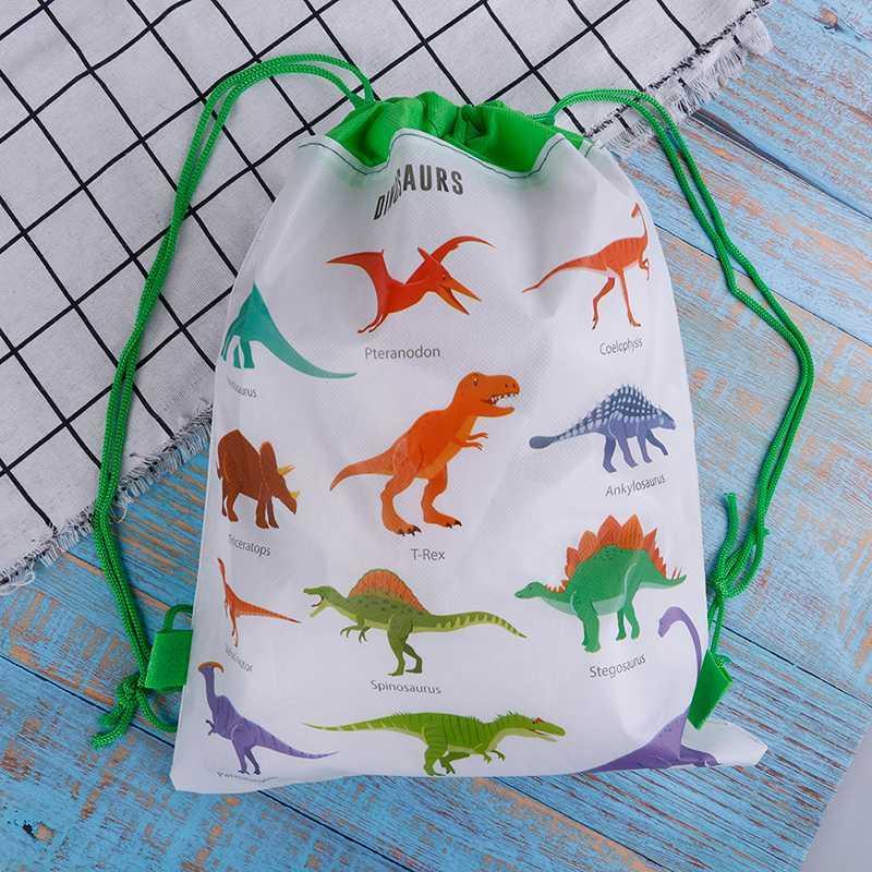 ديناصور حقيبة هدية غير المنسوجة أكياس ظهره حقيبة سفر الاطفال مدرسة الرباط