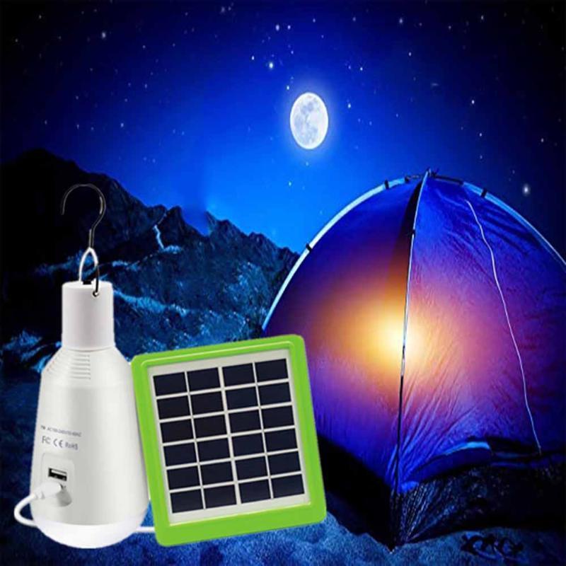 E27 Notfall LED-Birnen-Wiederaufladbare Camping-Zelt-Licht-Sonnenkollektor Hängelampe Multifunktionale Laterne für Outdoor Indoor