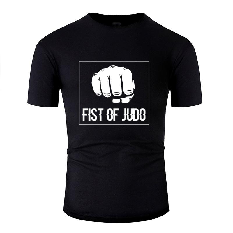 Stampa Pugno Di Judo regalo di sport Art T-shirt uomo in cotone 100% Outfit Adult Comics magliette Abbigliamento 2019 Hiphop Top
