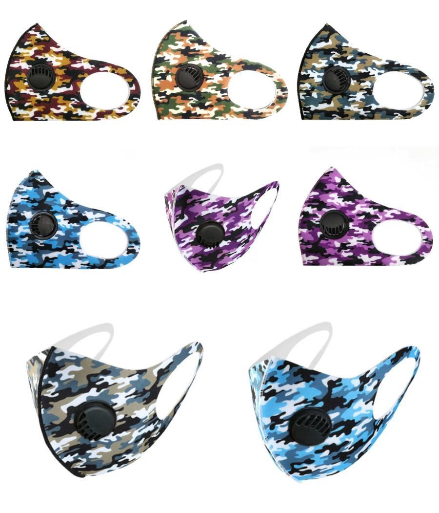Designer Máscara Facial Máscara 2020 Anti-Pó Esponja Boca Rosto Respirar Máscaras Unisex Homem Mulher Ciclismo Preto desgastando # 307