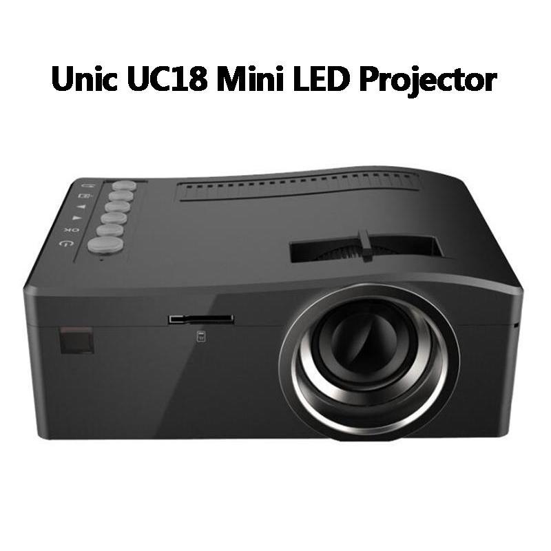 Original Unic UC18 Mini LED Projektor Tragbare Pocket Projectors Multi-Media Player Home Theater Spiel Unterstützt HDMI USB TF Beamer
