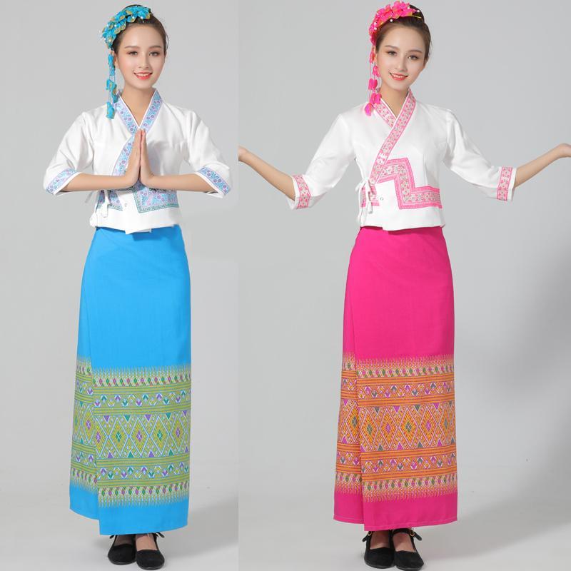 Dai traditionnel costume Thaïlande Laos Myanmar costumes pour femmes fête festival vie Asie robe vêtements ethniques costumes élégants
