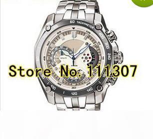 Al por mayor-EF-550D-7AV de los nuevos hombres reloj deportivo de línea blanca EF-550D 550D EF blanca Reloj de marcación con 1 Función 20 Cronómetro Péndulo