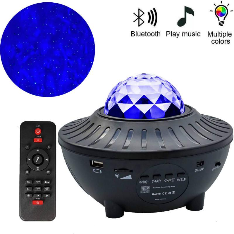 Colorful Starry Sky Projector LED Light Bluetooth Speaker Music Player TF LED Night Light USB Charging Projection Lamp Kids Gift Party Home