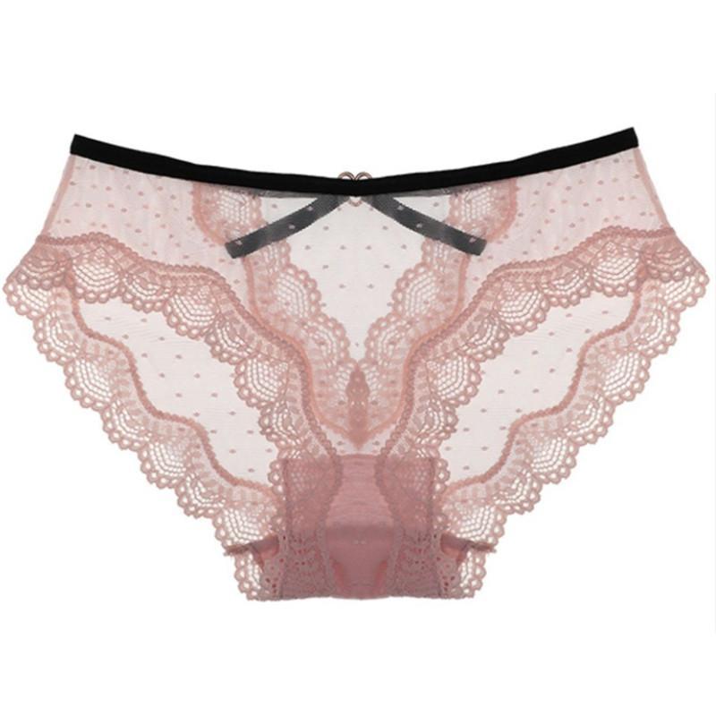 Atractiva de la manera acogedora mujeres ropa interior de encaje transparente Bajo-cintura Underpant femenino sin fisuras G-secuencia de la ropa interior