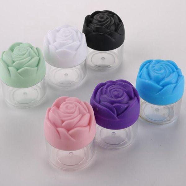 Nouvelle boîte de crème bouteille masque facial de forme de fleur de rose sous-bouteille