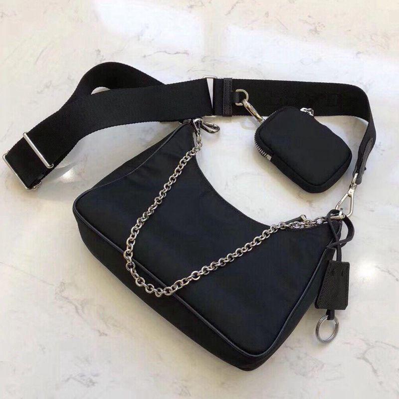 prada venta al por mayor bolso de lona para las mujeres Deisigner cadenas paquete de pecho señora totalizador del bolso de los bolsos del diseñador del bolso del mensajero bolso