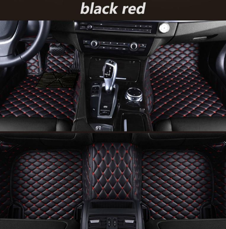 For Peugeot 308 2012-2019 Car Foot Pad Luxury Surround Waterproof Leather/**+