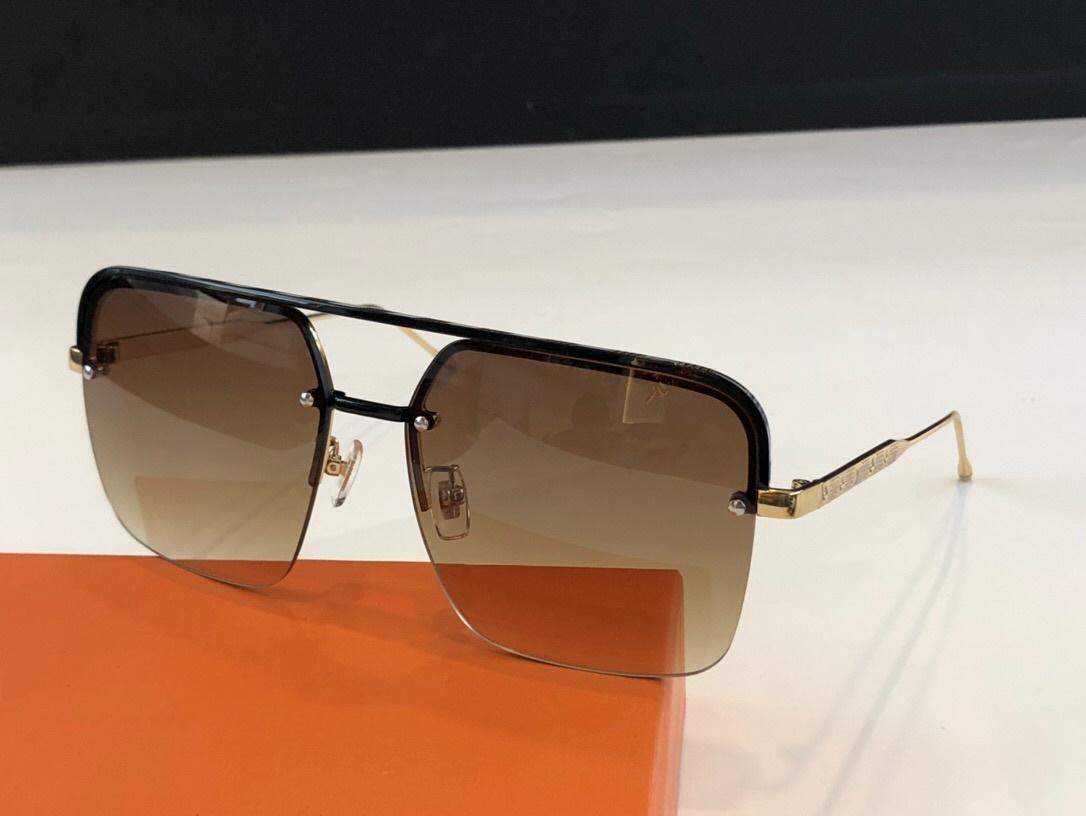 2018 Fashion New Sunglasses Square Half Frame Glasses Simple Men Business Style Eyewear Lens Laser Top Quality UV400 protection