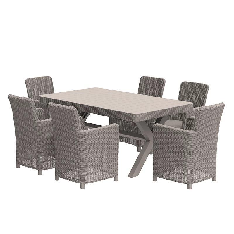 Outdoor Gartenmöbel Esstisch Stuhl 5 Stück Esszimmergarnituren