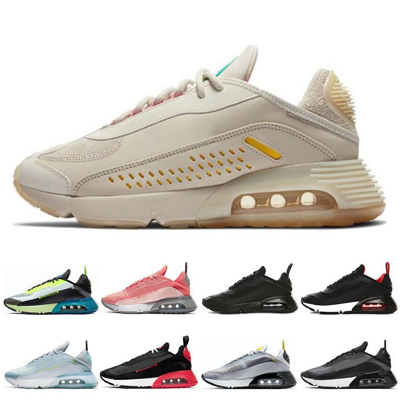 Vente chaude 2090 Hommes Femmes Chaussures de course Be True Platinum pur Aurora Vert Rose Hommes Baskets Chaussures de sport de région Dimension 36-45
