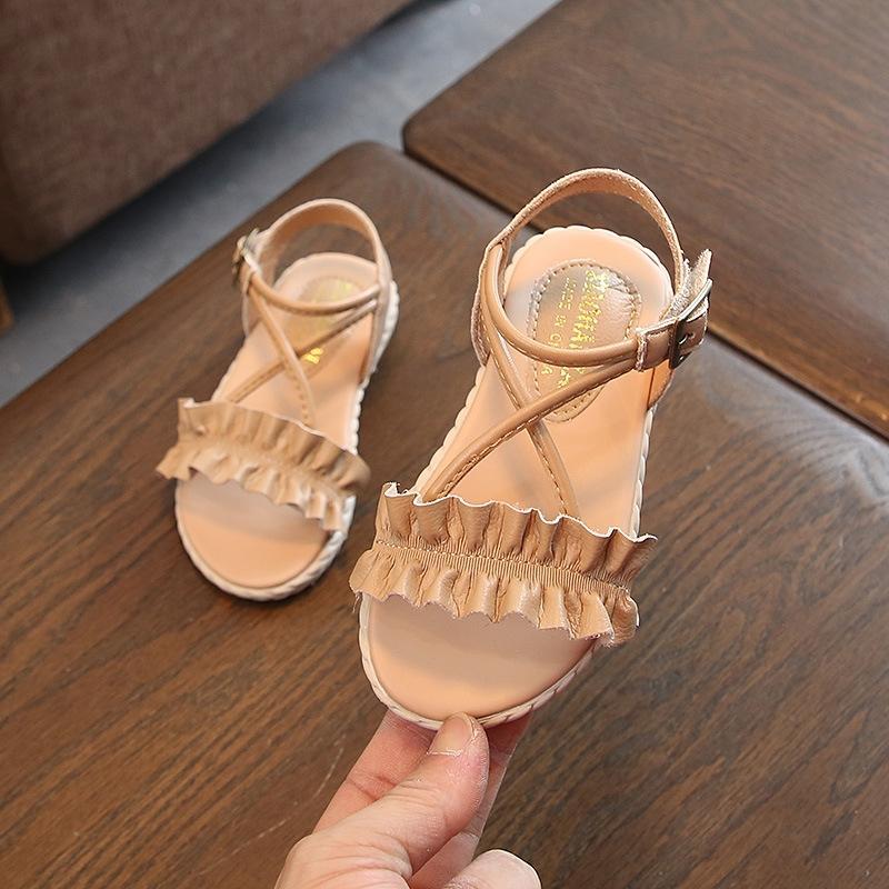 Girls Ruffled Soft Shoes