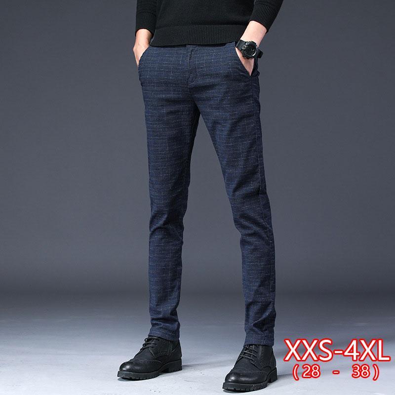 Männer des neuen Entwurfs der dünnen Männer beiläufige Hosen dünne Hose gerade Hose Male Fashion Stretch Business Men Größe 28-38